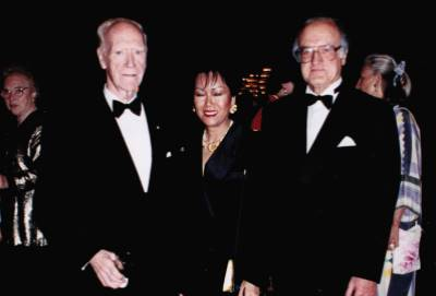 <span class='aslide1'>The Honorable Mitchell Sharpe with Senator Stanley Haidasz and Conchita Tan-Willman</span>